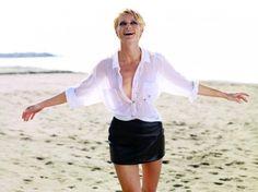 "Małgorzata Kożuchowska, ""Viva!"" czerwiec 2011 Celebrity Faces, Lingerie, Celebs, Celebrities, Cover Up, Beautiful Women, Classy, Actresses, Skirts"