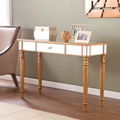 Wildon Home ® Huxley Mirrored Console Table