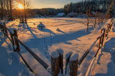 Морозное утро в глубинке!