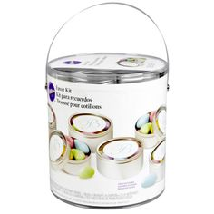 Create personalized favor tins for your celebration using computer software—or design them by hand! Guests will love these handy tins as keepsakes. Simply fill the finished product with your favorite candy, nuts, homemade soap or potpourri.