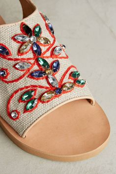 Shop the Coral Blue Gem Slingback Sandals and more Anthropologie at Anthropologie today. Read customer reviews, discover product details and more. Coral Blue, Blue Gem, Shoes Ads, Embellished Shoes, Shoes 2017, Slingback Sandal, Shoe Brands, Urban Outfitters, Anthropologie