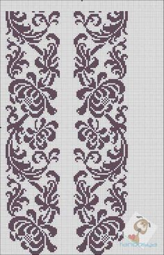 Beading _ Pattern - Motif / Earrings / Band ___ Square Sttich or Bead Loomwork ___ Cross Stitch Borders, Cross Stitch Charts, Cross Stitch Designs, Cross Stitching, Cross Stitch Embroidery, Embroidery Patterns, Cross Stitch Patterns, Crochet Patterns, Filet Crochet