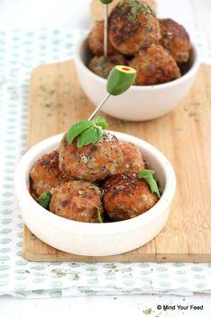 Italiaanse gehaktballetjes - let op uw dieet, Italian Party, Good Food, Yummy Food, High Tea, Food Hacks, Finger Foods, Italian Recipes, Foodies, Dinner Recipes