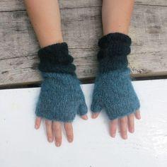 Aura Que - Mohair Ombre Knitted Woollies - Mint, Grey or Teal – Unbound Crochet Gifts, Knit Crochet, Ombre Effect, Slipper Boots, Ombre Color, Felt Ball, Hat Making, Fair Trade, Fingerless Gloves