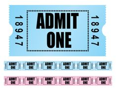 Hollywood Theme / Registration Card Idea  The seating card could look like an old-time movie ticket.