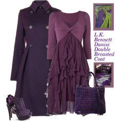 """L.K. Bennett Danisi Double Breasted Coat"" by bodangela on Polyvore"