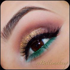 ✨Glittery Gold & Green - @ rebellemakeup