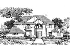 Mediterranean House Plan with 2964 Square Feet and 4 Bedrooms(s) from Dream Home Source | House Plan Code DHSW05652