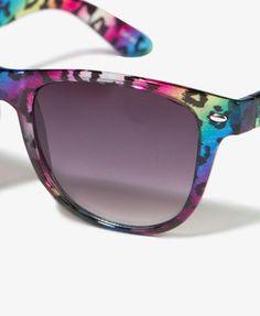 95d65cd421b rainbow cheetah print sunglasses  what would be better  Cool Sunglasses