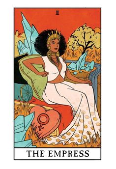 The Empress - Modern Witch Tarot, an art print by Lisa Sterle This is a gallery-quality giclée art print on cotton rag archival paper, printed with archival inks. Arte Latina, Grammy Outfits, Modern Witch, The Empress, Tarot Spreads, Feminist Art, Hippie Art, Tarot Decks, Tarot Cards