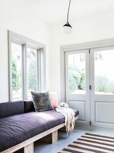 White walls colored frames: Tour an Interior Designer's Ultra-Cool Malibu Farmhouse via @mydomaine
