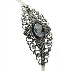 Gothic Lolita Neo Victorian Cameo Headband by ghostlovejewelry, $18.00