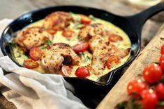 Kremet kylling med tomat og spinat Spinach