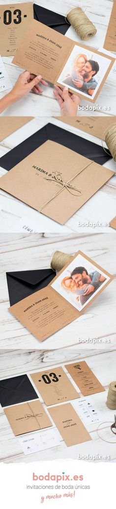 Yosemite Wedding Invitación de boda con foto ideal para bodas rústicas – Modelo One Love – Colección Bodapix Wedding Card Design, Wedding Invitation Design, Wedding Stationery, Wedding Designs, Wedding Cards, Wedding Planner, Wedding Themes, Wedding Tips, Fall Wedding