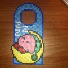 Kirby door hanger hama beads by freakbeadsandfelts