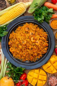 Meygoo Polo is a flavourful prawn rice dish from the south of Iran. Having prawns as one of the main ingredients, as well as its subtle heat make this dish so unmistakably southern.   igotitfrommymaman.com #persianrecipes #persianfood Indian Appetizers, Indian Snacks, Rice Recipes, Veggie Recipes, Veggie Food, Polo Recipe, Cooking Tips, Cooking Recipes, Biryani Recipe