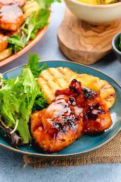 Huli Huli Chicken: Best grilled chicken ever. Recipe Using Chicken, Best Chicken Recipes, Top Recipes, Delicious Recipes, Beef Recipes, Easy Recipes, Vegan Recipes, Huli Huli Chicken, Midweek Meals