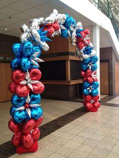 patriotic balloon arch by zany janie