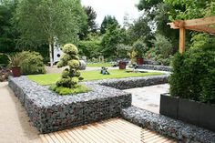 Garden gabions ....just what we need on top of a rock quarry!