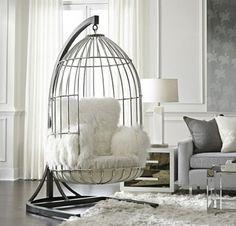 Hanging Birdcage Chair - Bastile Chait Tibetan