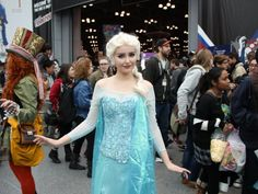 This was the best Elsa we saw, cosplayed by a real Norweigan! Ida Vesterelv says everyone in her home country is so proud to have a Disney movie set in their country.