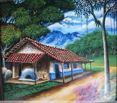 paisajes tipicos costarricenses en oleo - Buscar con Google Cute Canvas Paintings, Canvas Painting Landscape, Landscape Art, Costa Rica Art, Latino Art, Digimon Adventure, Country Art, Still Life Art, Black Artists