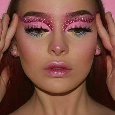 Dope Makeup, Indie Makeup, Pink Makeup, Crazy Makeup, Glam Makeup, Beauty Makeup, Makeup Art, Gorgeous Makeup, Pretty Makeup