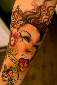 By Princess Tattoo Girly Tattoos, Sexy Tattoos, Body Art Tattoos, Tattoos For Women, Tatoos, Great Tattoos, Beautiful Tattoos, Awesome Tattoos, Tatoo Art