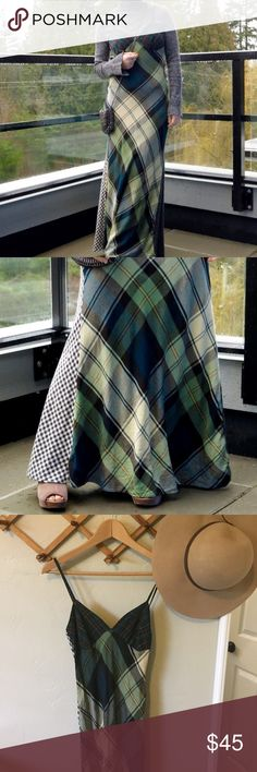 Plaid Flannel Maxi Dress Gorgeous and unique Denim and Supply Ralph Lauren plaid and checkered flannel maxi dress. Spaghetti straps and a deep V back. Worn once, in perfect condition Denim & Supply Ralph Lauren Dresses Maxi
