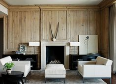 Betsy Brown Interiors--gorgeous. Love the wood v. ivory colors and overall linear quality.