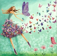 'Butterfly Girl' by Mila Marquis. This would be perfect for RH's room if I can find a large print of it.