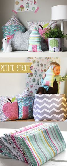 Petite Street by Wendy Kendall  Coming to Laughing House Fabric! http://laughinghousefabric.etsy.com