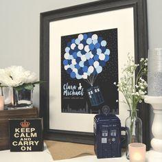 TARDIS Wedding Unique Guestbook Alternative Doctor von PaperRamma