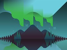Illustration of the aurora borealis (a.k.a. Northern Lights)