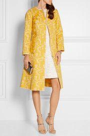 Embellished cotton-blend tweed coat