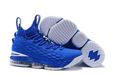 e033e65ab7b1a 2018 Nike LeBron XV EP 15 Mens Basketball Shoes Royal Blue White