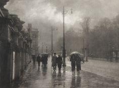 Rue Royale sous la pluie (1935) by Léonard Misonne