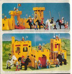 Old LEGO® Instructions | letsbuilditagain.com Lego Castle Instructions, Classic Lego, Lego Juniors, Lego Challenge, Lego Activities, Vintage Lego, Lego Design, Lego Building, Lego Sets