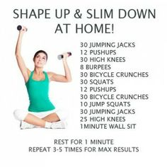 5 workouts designed for you to do from home!  I did this one this morning but want to try all 5!