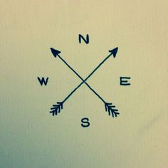 simple arrow compass tattoo - Google Search Elyssia