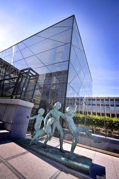 Mont des Arts - Brussels, Belgium #square #brussels #architecture