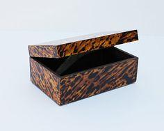 Karen Robertson Collection - Tortoise shell finish on a decorative box.