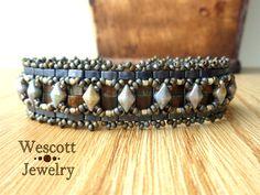 Pattern for Odessa Cuff Bracelet with DiamonDuo by WescottJewelry