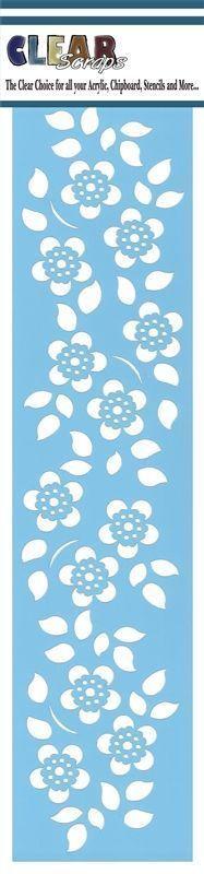 Clear Scraps - Mascils - Border Masking Stencil - Floral 2 at Scrapbook.com: