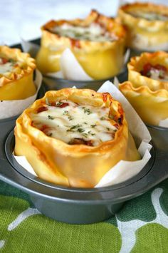 http://www.laurenslatest.com/lasagna-cups/ With some tweeking this can be a great bariatric friendly meal!