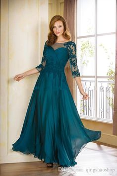 The Bride'S Mother Plus Size Pure Custom Lace Neck Eveningwith Half Sleeve Formal Dresses Teal Blue Mother Of The Bride Dress Mother Of The Bride Dresses Long Mother Of The Bride Plus Size From Yuexiaziteng, $123.57| Dhgate.Com