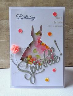 """svg cut file and the """"negative"""" space to create a shaker card. Paper Trey Inc """"Sparkle"""" word die? Handmade Birthday Cards, Happy Birthday Cards, Greeting Cards Handmade, Mom Birthday, Birthday Crafts, Shaker Cards, Card Tags, Creative Cards, Kids Cards"""