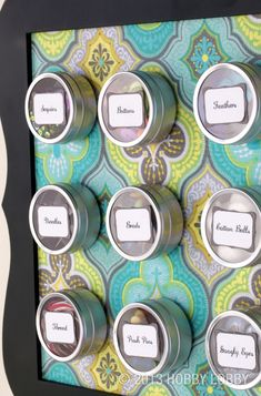 Clearing craft-room clutter has never looked so good! Make your own magnetic organizer with this cute DIY idea.