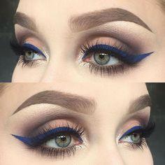 I used matte metallic palette (shadows: ribbon, silk, fringe, glitz and velour) Gorgeous Makeup, Love Makeup, Makeup Inspo, Makeup Inspiration, Makeup Goals, Makeup Tips, Beauty Makeup, Kiss Makeup, Hair Makeup