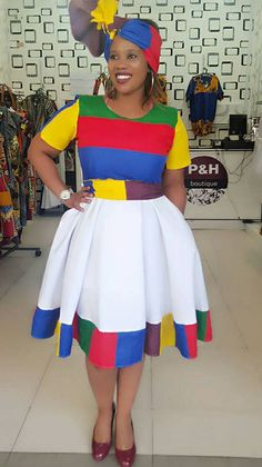 Fashion ideas on traditional african fashion 113 African Fashion Designers, Latest African Fashion Dresses, African Print Dresses, African Print Fashion, African Prints, Ethnic Fashion, Tsonga Traditional Dresses, South African Traditional Dresses, Pedi Traditional Attire